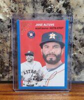 2020 Topps Gallery Jose Altuve Heritage Insert #/99 Blue Parallel Houston Astros