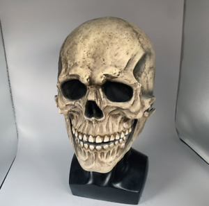 Full Head Skull Mask/helmet With Movable Jaw scary halloween latex mask