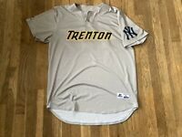 Adonis Rosa Game Used Trenton Thunder Road Gray Jersey Yankees