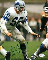 JOE SCHMIDT SIGNED AUTOGRAPHED 8x10 PHOTO + 8 x ALL PRO + HOF 1973 PSA/DNA