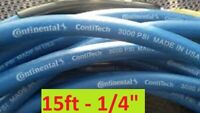 15ft CarpetClean 3000 PSI Blue Steel Braid Solution Hose Continental USA Neptune
