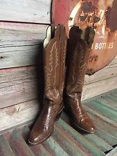 WOMEN'S JUSTIN SNAKE SKIN COWBOY BOOTS SIZE 5.5 N STYLE N5490