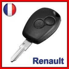 Coque Plip Clé Bip Boitier 2 Boutons Renault Kangoo Clio Twingo Modus Wind+Lame