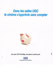 PUBLICITE ADVERTISING 064  1995   LES CINEMAS  UGC  la carte privilège