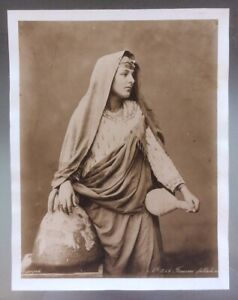 "EGYPT:  Albumin Print ""Femme Fellahine""  From Original By Zangaki Circa 1900."