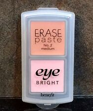 BENEFIT DUO ERASE PASTE No 2 MEDIUM + EYE BRIGHT 0.04 oz each