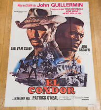 EL CONDOR Affiche cinéma 120X160 LEE VAN CLEEF, JIM BROWN, JOHN GUILLERMIN
