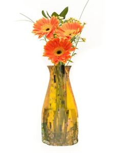 New Modgy Plastic Expandable Art Decor Flower Vase Gustav Klimt The Kiss Love