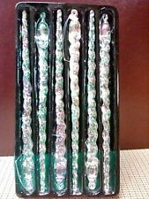 Iridescent Icicles (6-plastic) from Santa's World by Kurt S. Adler in early 2000