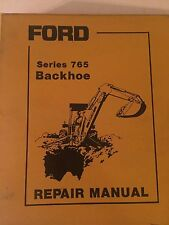 FORD 765 TRACTOR BACKHOE ATTACHMENT ORIGINAL REPAIR MANUAL BINDER