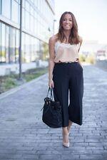 ZARA noir jupe-culotte Pantalon Pantalon Taille UK L UE L US L