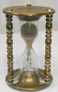 Antique Vintage Brass framed Egg Timer