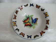 "Tabletops Unlimited Butterflies 8.5"" Serving Bowl Oven Safe"