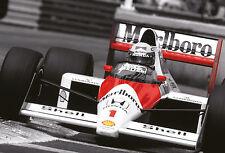 Ayrton Senna F1 Car Poster Print 260gsm A3