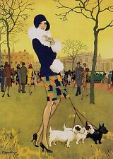 """""""A Short Skirt - and a gay one"""" by Elsie Harding. Art Deco A 3 size Photo print."""