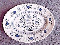 Blue Nordic Oval Serving Platter by J&G Meakin