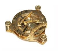 New 3 Inch Sundial Compass Brass Made Nautical Navigational