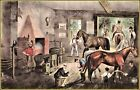 Currier & Ives | Trotting Cracks at The Forge  Art Print