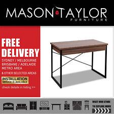 Mason Taylor Artiss Metal Desk with Drawer - Walnut  AU