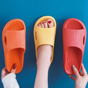 Women Indoor Flat Shoes Eva Summer Non-slip Bathroom Home Slippers Flip Flops