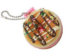 Chocolate Doughnut Squishy Keyring Vanity Mirror Bag Pink Charm Krispy Kreme
