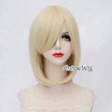 Lolita Light Blonde Short 40CM Bob Fashion Party Women Cosplay Wig + Wig Cap