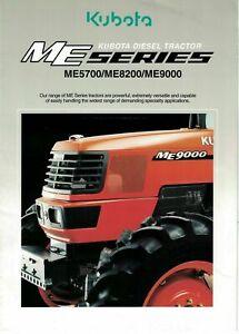 Kubota ME Series ME5700 ME8200 ME9000 Diesel Tractor 2004 Brochure   6130F
