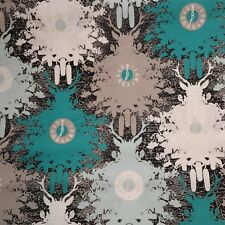 Indelible By the yard Art Gallery Fabrics Time is Deer Coal