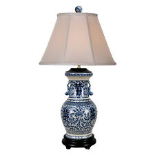 Beautiful Blue and White Porcelain Double Happiness Vase Table Lamp 30.5""