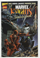 Marvel Knights Sketchbook (1998) Daredevil, Black Panther, Punisher, Inhumans D