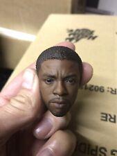 Custom 1/6 Hot Toys Chadwick Boseman Black Panther T'Challa Headsculpt