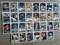 1991 ATLANTA BRAVES Topps COMPLETE Baseball Team Set 30 Cards JONES#1 JUSTICE RC