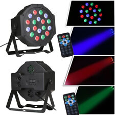 2Pcs 54W 18LED Par Can DJ Stage Lighting RGB DMX Strobe Uplighting w/ Control