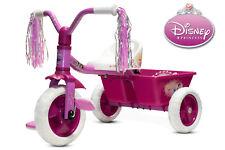 Dreirad Disney Prinzessin mit Schubstange und Gepäckkorb Gummireifen