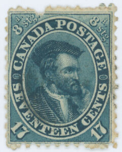 Canada Stamps 1859 17¢ Jacques Cartier Used with nick Scott # 19