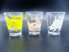 Vintage Shot Glass Set Roving Eyes Fish by Anchor Hocking