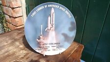 1981 First Launch of USA Space Shuttle Columbia Melamine Plate
