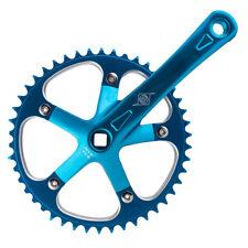"""Origin8 Track Crankset 165mm Blue 46T x 1/8"""" JIS Single Speed Fixed Gear Bike"""