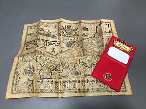Old Map of Cornwall 1610 - The Old Map Company - John Speede - Parchment Replica