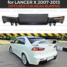 Diffuser for rear bumper Mitsubishi Lancer X 2007-2013 EVO body kit ABS plastic