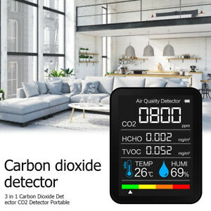 5in1 CO2 Meter Air Quality Monitor 400-5000 PPM Sensor Carbon Dioxide Detector
