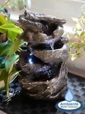 Fontana Tavolo Cascata d'Acqua Luci LED Roccia Fontane Zen Interni Decorazione