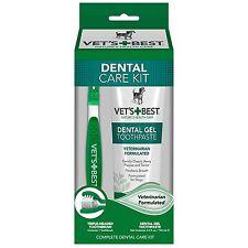 Vet's Best Enzymatic Dental Gel Toothpaste Kit for Dogs - Brush & Toothpaste