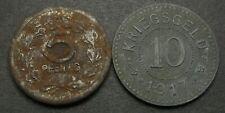 GERMANY 5, 10 Pfennig 1917/1918 - Notgeld - 2 Coins. - 1328