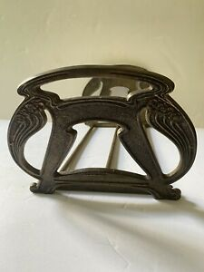 Antique Art Nouveau (Bradley&Hubbard?)Brass/Metal/Cast Iron Expandable Bookends