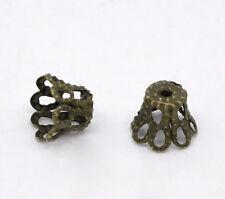 600 Perles Coupelles Fleur Couleur Bronze 5x6mm