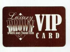 Luxury Brown Sports Bar & Dance Club - VIP Card - No Value - I Combine Shipping