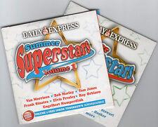 SUMMER SUPERSTARS - 2 PROMO CDs: VAN MORRISON, ELVIS PRESLEY, ROY ORBISON ETC