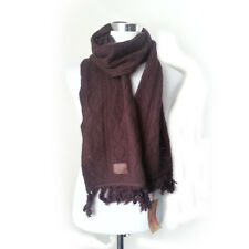 True Religion Men Wool Cashmere Bland Scarf Dark Red Brown NWT