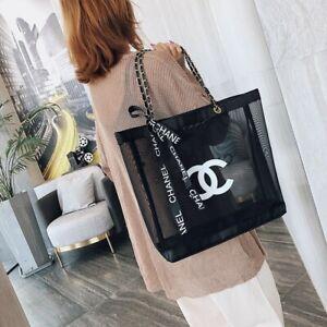 CHANEL Beauty GIFT BLACK MESH Tote Bag